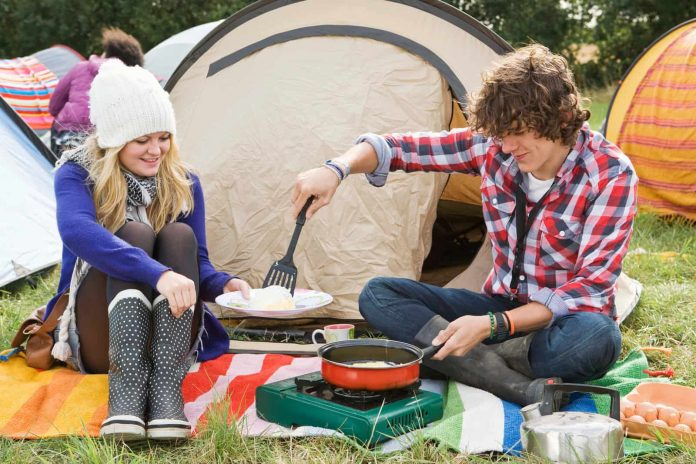 how to cook in a tent safely