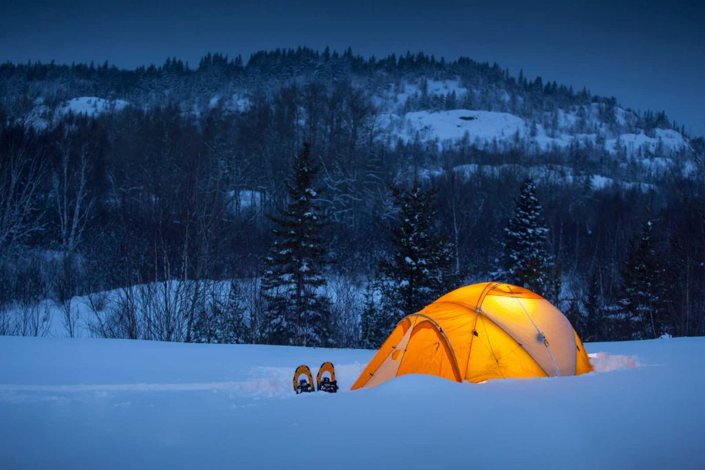 how to heat a tent in cold weather