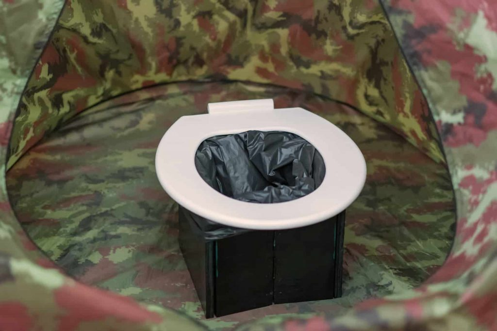making a portable toilet for camping