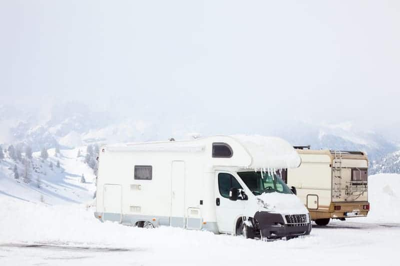keeping RV pipes from freezing while camping
