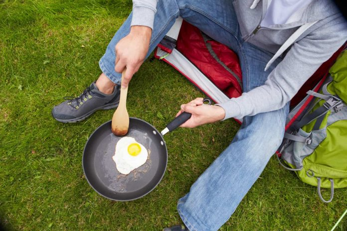 taking eggs camping in a safe way