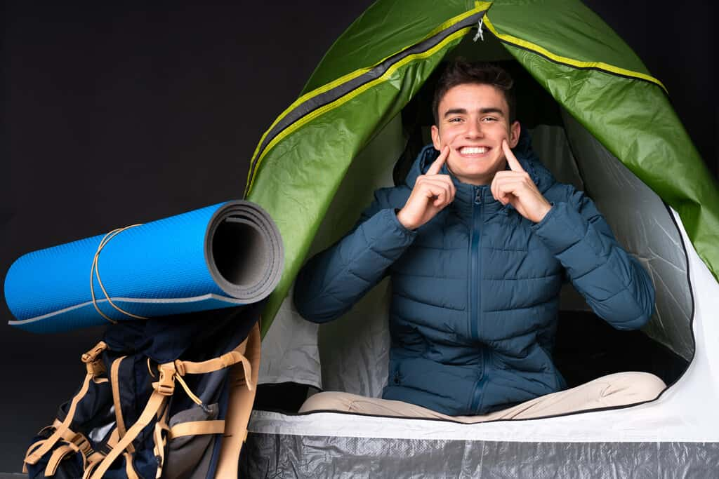 stay clean while camping outdoors