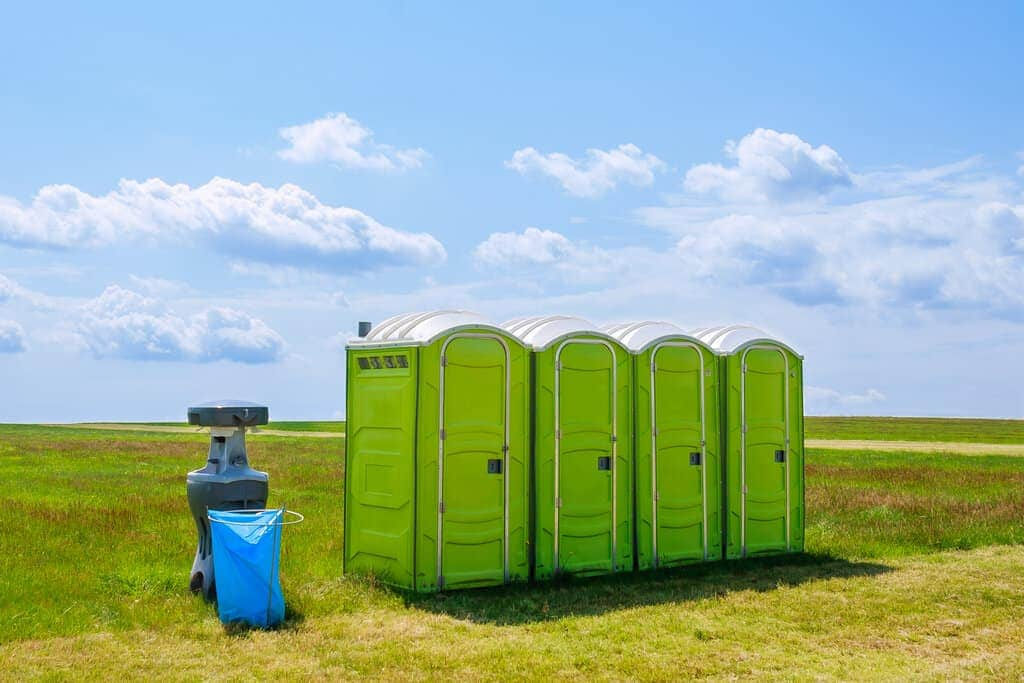 empty a portable toilet while camping